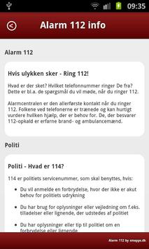 Alarm 112 apk screenshot