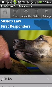 Susie's Law First Responder poster