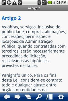 Brasilian Law of Tenders apk screenshot