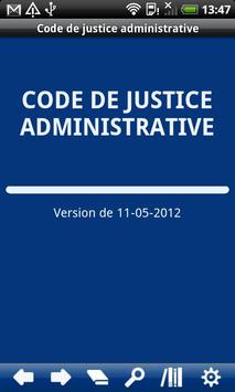 FR Code Administrative Justice poster