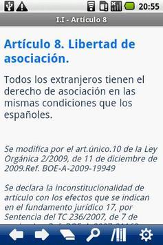 Spanish Immigration Law apk screenshot