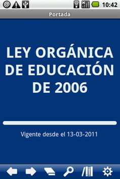 Spanish Education Law poster
