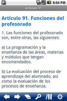 Spanish Education Law apk screenshot