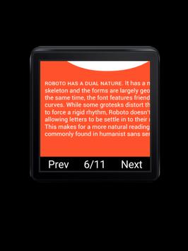 PDF Reader for Android Wear apk screenshot