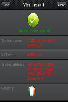 VIES - check the VAT number apk screenshot