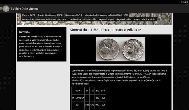 Il Valore delle Monete apk screenshot