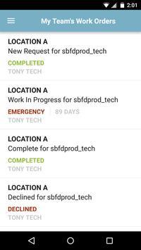 FacilityDude Work Center apk screenshot