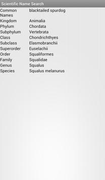 Scientific Name Search apk screenshot