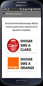 SMS Gratis Dominicana poster