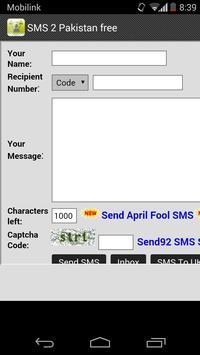 free SMS to Pakistan & UK poster