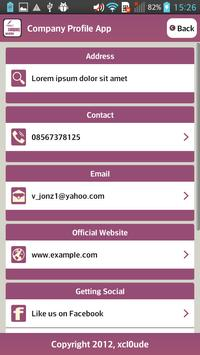 Company Profile Magenta apk screenshot