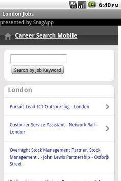 London Jobs poster