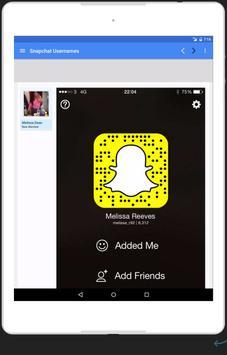Snap Usernames Community apk screenshot
