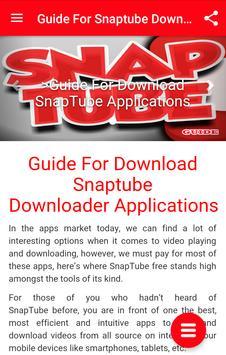 Guide For Snaptube Downloader apk screenshot