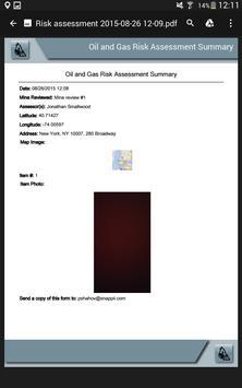 Oil and Gas Risk Assessment apk screenshot
