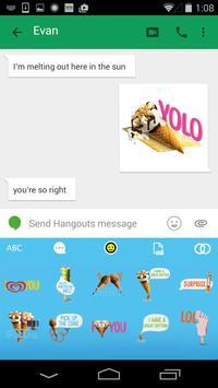 Wall's Emoji Keyboard apk screenshot