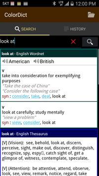 ColorDict Dictionary apk screenshot