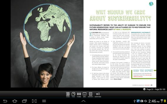 SOA The Actuary Magazine apk screenshot