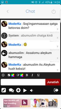 Sog'inch Sadosi Chatxonasi apk screenshot