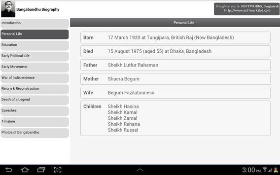 Bangabandhu Biography apk screenshot