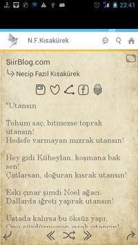 Necip Fazıl Kısakürek Şiirleri apk screenshot