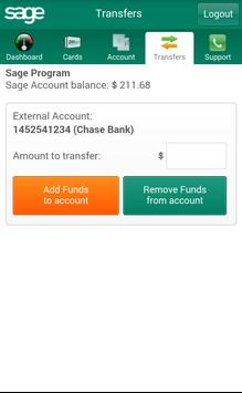 Sage Card - Admin apk screenshot