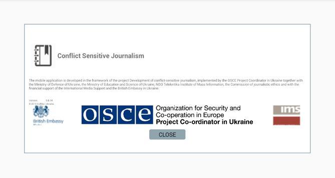Conflict Sensitive Journalism apk screenshot