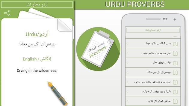 Urdu English Proverbs poster