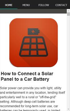 Solar Battery Charger Guide poster
