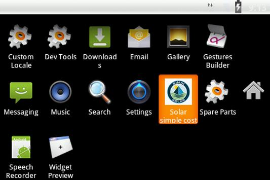 Solar energy system (simple) apk screenshot
