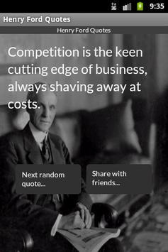 Henry Ford Quotes poster