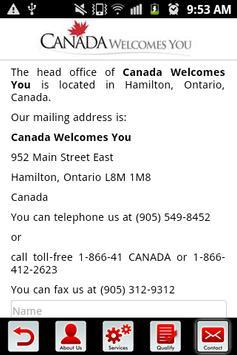 Canada Welcome You apk screenshot