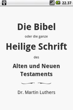 Die Bibel, Luther (Holy Bible) poster