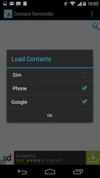 Contact Reminder apk screenshot