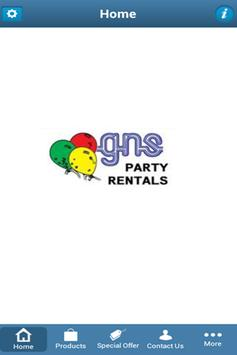 GNS PARTY RENTALS poster