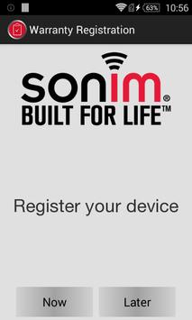 Sonim Warranty Registration poster