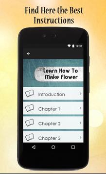 Learn How To Make Flower apk screenshot