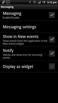 Messaging smart extension apk screenshot