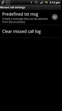 Missed Call smart extension apk screenshot
