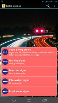 Traffic Signs UK poster