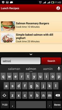 Lunch Recipes apk screenshot