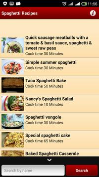 Spaghetti Recipes apk screenshot