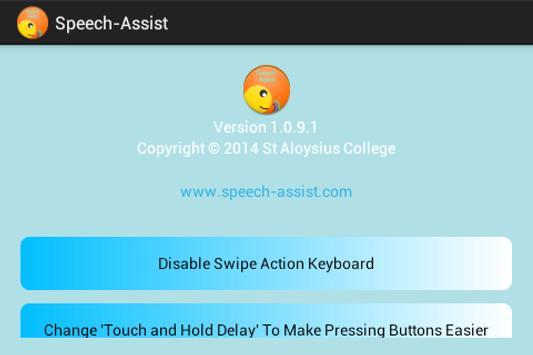 The Speech-Assist Project apk screenshot