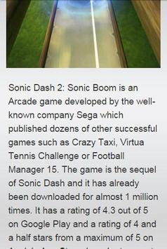 Cheat for Sonic Dash 2 apk screenshot
