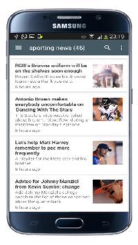 sporting news mobile app poster