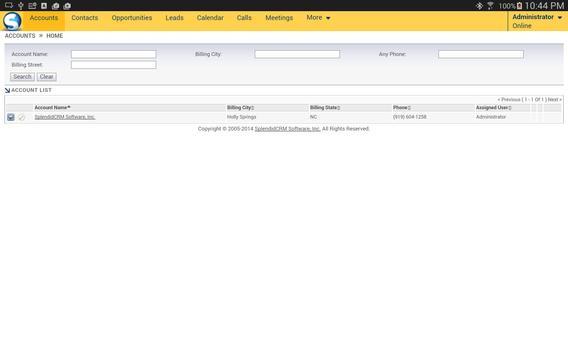 SplendidCRM Offline Client apk screenshot
