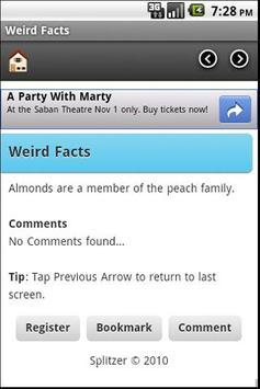 Weird Facts apk screenshot