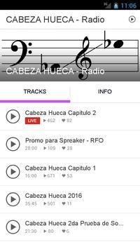 CABEZA HUECA - Radio poster