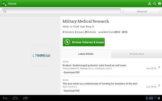 Military Medical Research apk screenshot