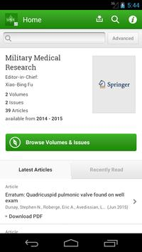 Military Medical Research poster